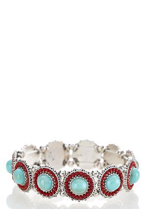 Beaded Turquoise Stretch Bracelet | Tuggl