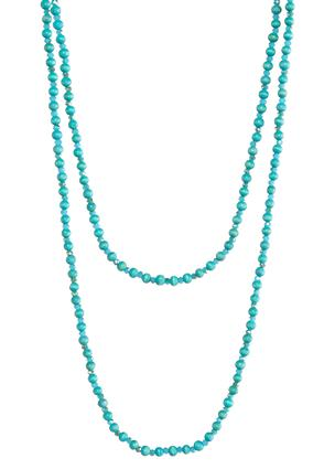 Blue Bead Long Necklace