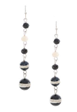 Beaded Linear Earrings | Tuggl