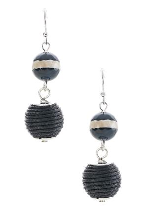 Semi- Precious Two Tier Thread Wrapped Earrings