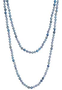 Semi Precious Long Layered Beaded Necklace