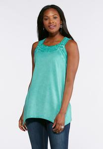Washed Weave Neck Tunic