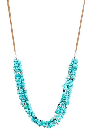 Layered Turquoise Cord Necklace at Cato in Brooklyn, NY | Tuggl