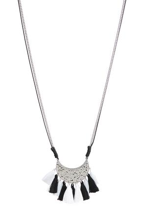 Crescent Pendant Tassel Necklace at Cato in Brooklyn, NY | Tuggl