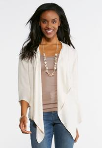 Natural Embellished Cardigan Top