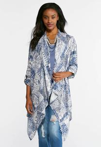 Navy Bandana Waterfall Jacket