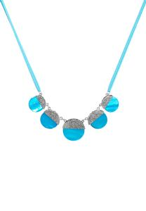 Blue Shell Cord Necklace