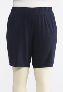 Plus Size Heather Gray Athleisure Shorts