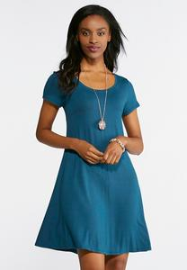 Cinched Tie Back Swing Dress