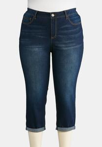 Plus Size Shape Enhancing Crop Jeans