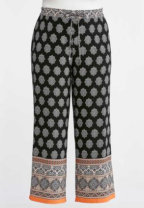 Plus Size Moroccan Border Palazzo Pants at Cato in Brooklyn, NY | Tuggl