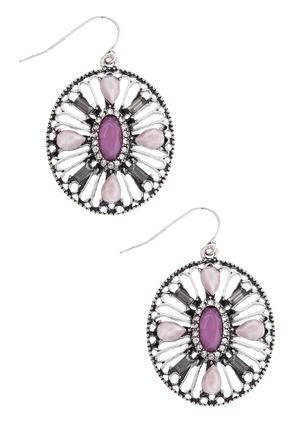 Lavender Cutout Bead Earrings