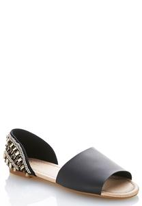 Beaded Heel Dorsay Flats