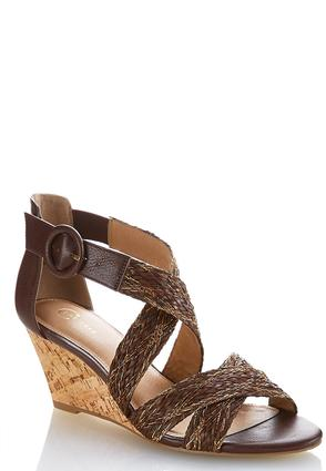 Wide Width Woven Cross Band Wedges at Cato in Brooklyn, NY | Tuggl