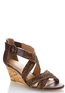 Wide Width Woven Cross Band Wedges