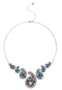 Paisley Seed Bead Bib Necklace