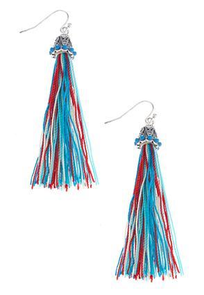 Sensational String Tassel Earrings | Tuggl