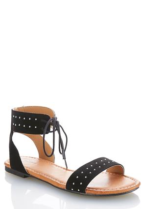 Ankle Tie Studded Sandals | Tuggl