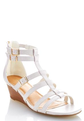 Buckle Strap Wedge Sandals | Tuggl
