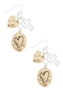 Inspirational Hammered Metal Earrings