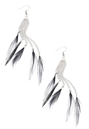 Feather Chain Earrings