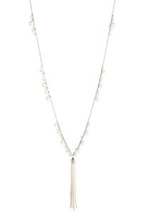 Tasseled Dangling Pearl Necklace