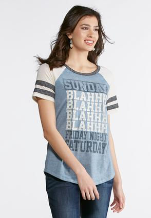 Plus Size Sunday Blahs Graphic Tee