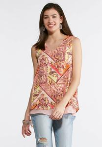 Mixed Paisley Layering Tank