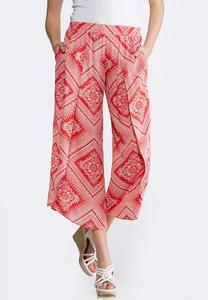 Cropped Bandana Print Pants