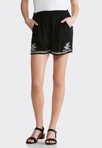 Gauze Embroidered Shorts