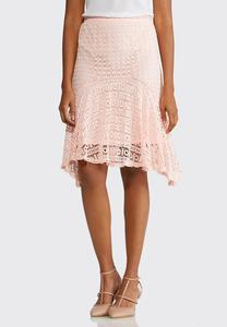 Plus Size Crochet Hanky Hem Skirt