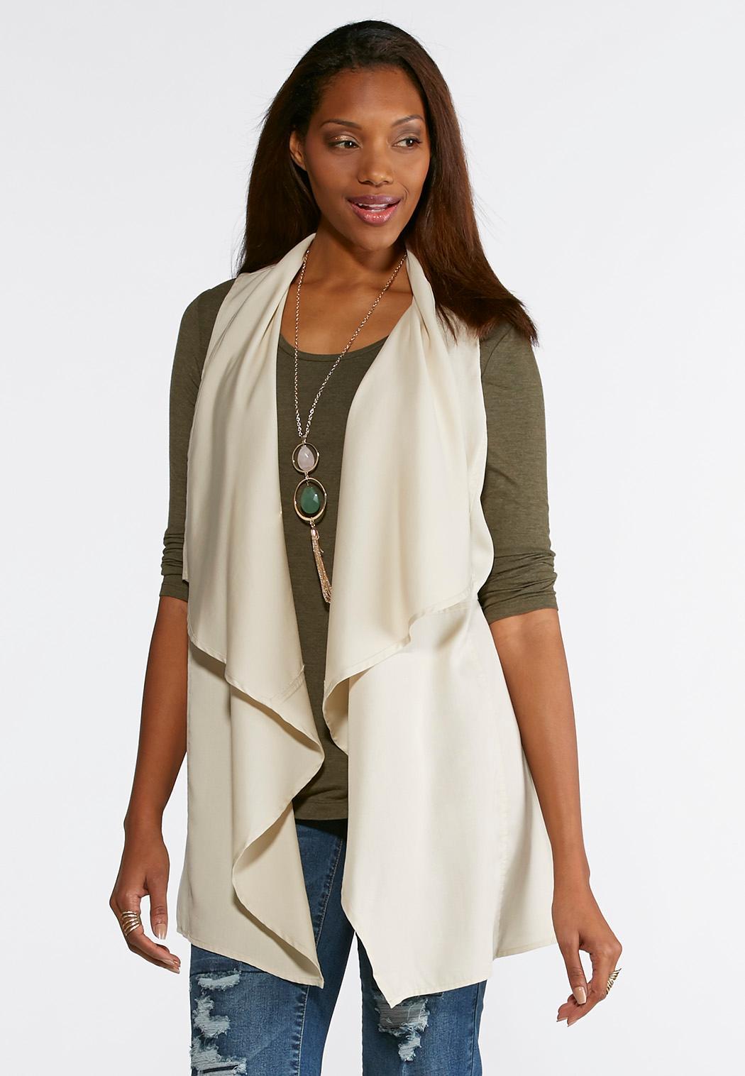 product sweater drape drapes michael fringe front kors womens cream cardigan