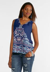 Dreamy Blue V-Neck Tank