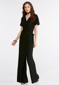 Plus Size Side Tie Jumpsuit