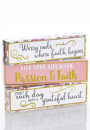 Wooden Inspirational Decor Plaque | Tuggl