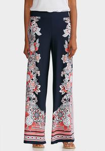 Side Bloom Palazzo Pants