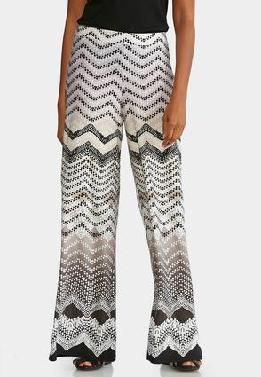 Petite Dotted Zig Zag Palazzo Pants at Cato in Brooklyn, NY | Tuggl