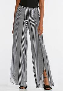 Black And White Tulip Pants