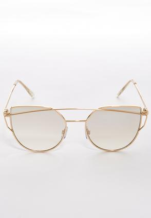 Metal Bar Cateye Sunglasses | Tuggl
