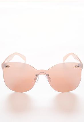 Rose Tone Rimless Sunglasses | Tuggl