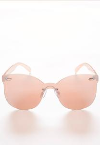 Rose Tone Rimless Sunglasses