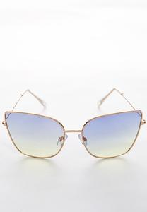 Sunset Tint Square Sunglasses