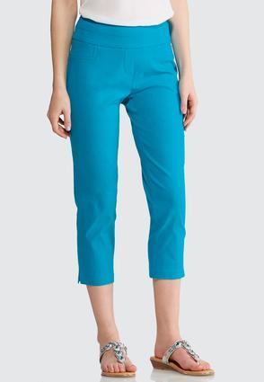Cropped Tonal Jacquard Pants | Tuggl