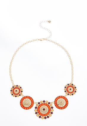 Seed Bead Disk Bib Necklace | Tuggl