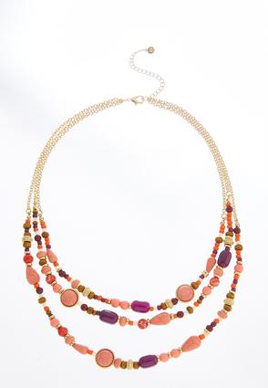 Mixed Bead Layered Necklace | Tuggl