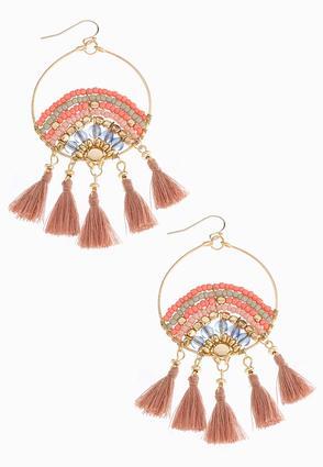 Dream Catcher Tassel Earrings | Tuggl