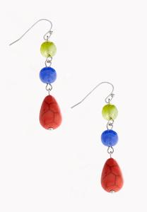 Semi-Precious Tiered Bead Earrings