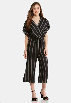 Cropped Stripe Jumpsuit at Cato in Brooklyn, NY | Tuggl