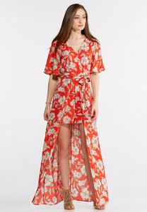 Floral Walk-Thru Maxi Dress