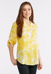 Plus Size Golden Oasis Top